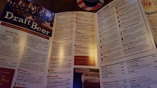 Carolina Ale House: Beer Menu