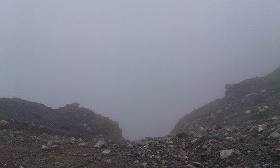 Santa Ana Volcano: Cráter, lastimosamente demasiadas nubes el dia que fui.