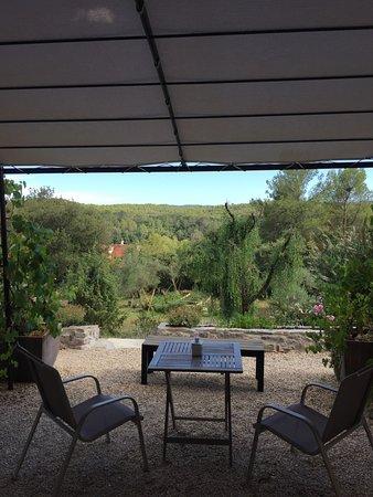 Entrecasteaux, ฝรั่งเศส: Terras bij de kamer