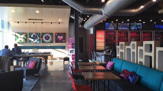 Aloft Raleigh Durham Airport Brier Creek Common Area With Pool Table