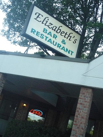 Elizabeths Bar & Restaurant: 08/08/16   -- located inside the plaza on RT 3..sign and business name on the roof