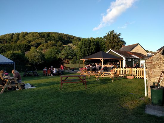 Axmouth, UK: Beer garden.
