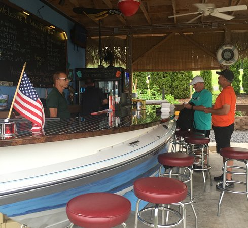 Wolffy's: View of the new boat bar