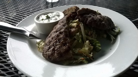 Jake & Telly's Greek Cuisine: Lamb/Beef gyro plate and tsatsiki sauce