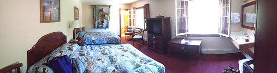 "Lutsen, MN: I adored the windows that opened into the room. Definitely a ""lodge"" feel to it."