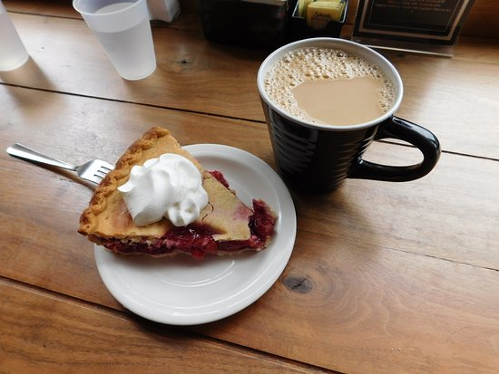 Good Karma: One good cup of Joe and a yummy cherry pie!