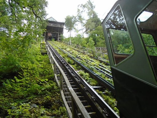 Centre for Alternative Technology: Funicular Railway up to the centre