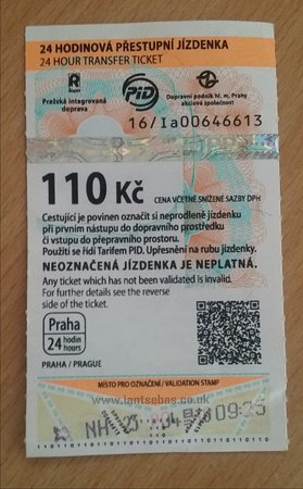 Extol Inn: A 24.hour ticket for all public transportaion around Prague