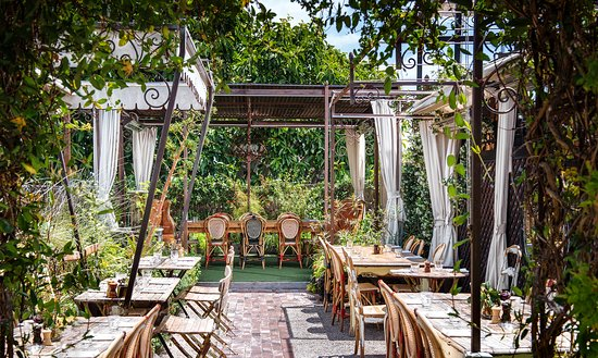 West Hollywood, CA: Private dining amongst butterflies and hummingbirds at Petit Ermitage's rooftop garden