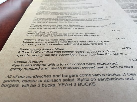 Kawartha Lakes, Canada : Extraordinary choices, great menu (with wicked humour!).