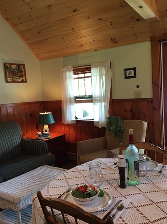Barton, VT: Interior of cabin #8