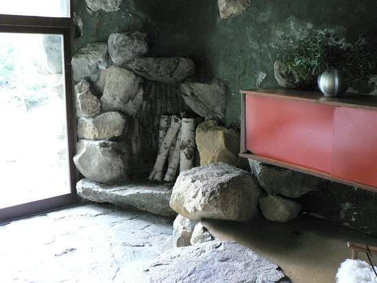 Garrison, NY: Fireplace in house, where logs were burned vertically