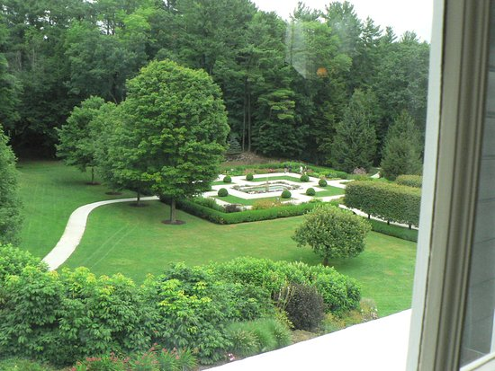 Lenox, MA: Photo of Edith Wharton's garden from her bedroom window