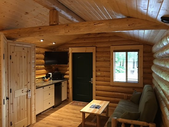 Close to ferry terminal clean and friendly owner review for Rv log cabins