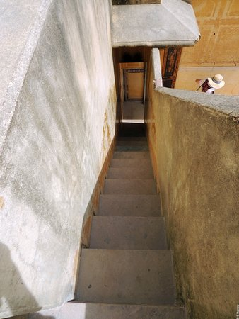 One Of The Narrow Staircases Up To The Roof Picture Of Nahargarh