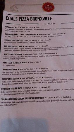 Bronxville, estado de Nueva York: Beer menu