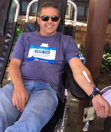 Vanderbijlpark, Sudáfrica: Great initiative donating a pint of blood for a burger and pint of beer, donated by The Horse an