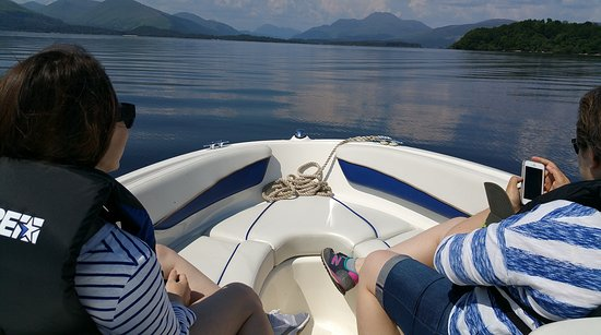 Gartocharn, UK: View of Ben Lomond from the boat
