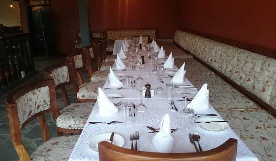 Musanze, Rwanda: Dinner table