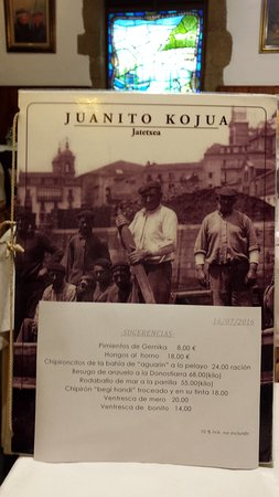 Photo of Seafood Restaurant Juanito Kojua at Calle Puerto 14, San Sebastian - Donostia 20003, Spain