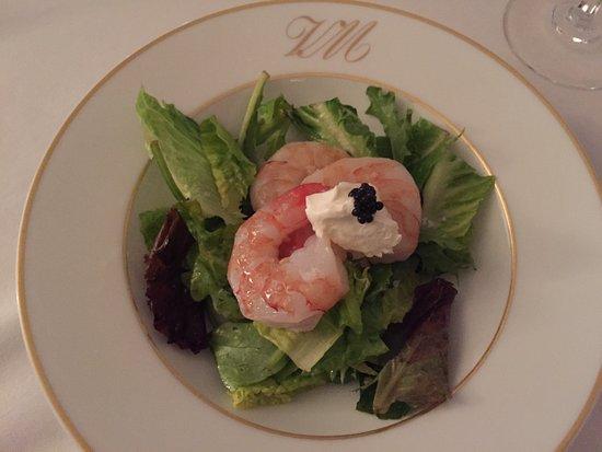La Villa Mahana: shrimp salad