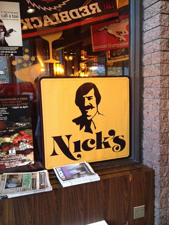 Nick's Steak House & Pizza: Yup... that's Nick!
