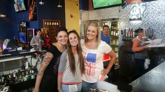 Great crew behind the bar at Back East Monument.