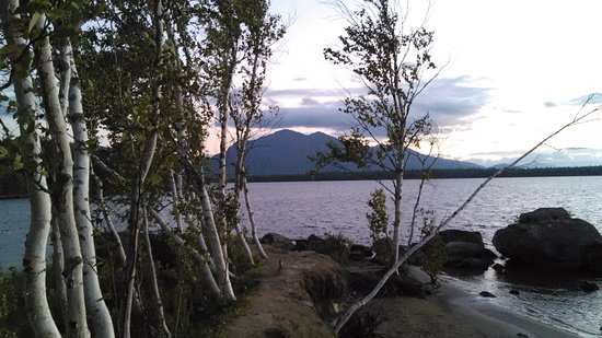 Kingfield, ME: Flagstaff Lake with Bigelow Mts.