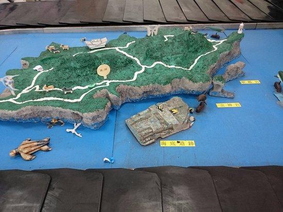 Yonaguni-jima Island: 空港にある与那国島全体図