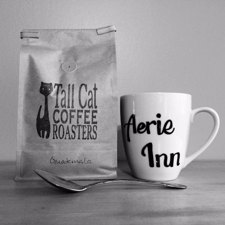 East Dorset, VT: We serve locally roasted coffee from Tall Cat Coffee Roasters in Dorset!