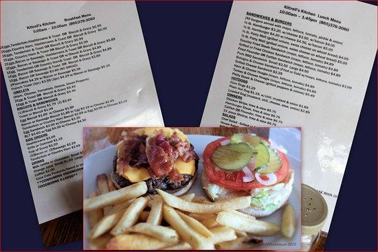 Kingston, TN: Cheeseburger and Menu!