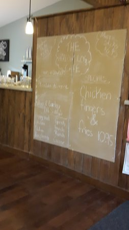 Caledonia, Canadá: Specials board at the Hollow Log Cafe