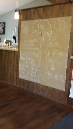 Caledonia, Kanada: Specials board at the Hollow Log Cafe