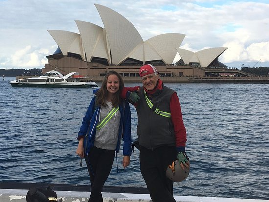 Bike Buffs - Sydney Bicycle Tours: Me and Greame infront of the Opera house