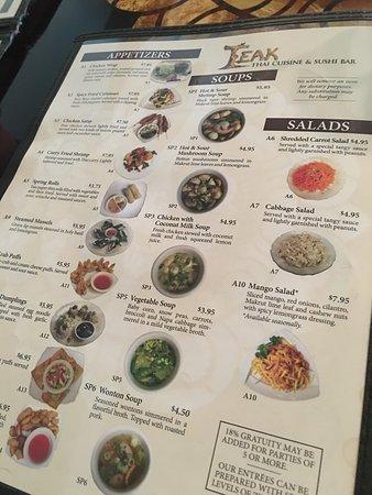 Teak Thai Cuisine and Sushi Bar: photo1.jpg