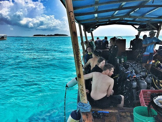 Matemwe Beach Village: On the diving/snorkelling boat