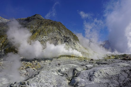 Whakatane, Yeni Zelanda: A lot of steam