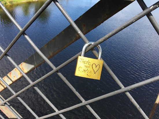 "Waterville, ME : ""Love locks"" like those found in Paris, France"