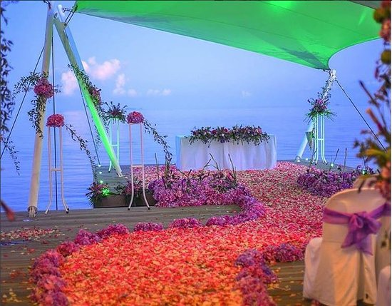 W Maldives: Wedding Setup at AWAY SPA