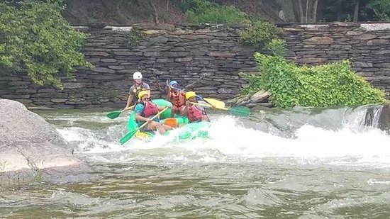 Knoxville, MD: Raft behind us going through Bull Falls. (class 3 rapid)