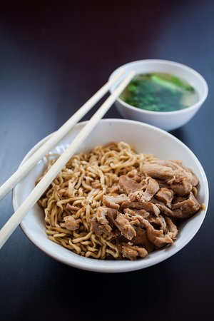 Clayton, Australia: Mie Ayam (Dry noodle with chicken topping)