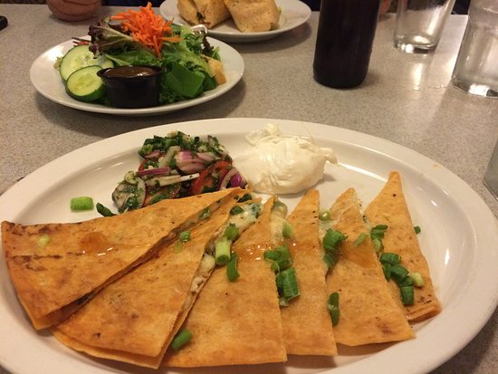 Shilo Restaurant : Chicken quesadilla and salad