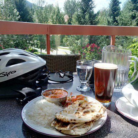 Tandoori Grill Original Indian Cuisine: Curry lunch after a long bike ride in Whstler