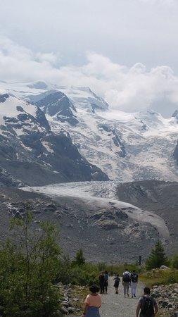Morteratsch Glacier: View from trail