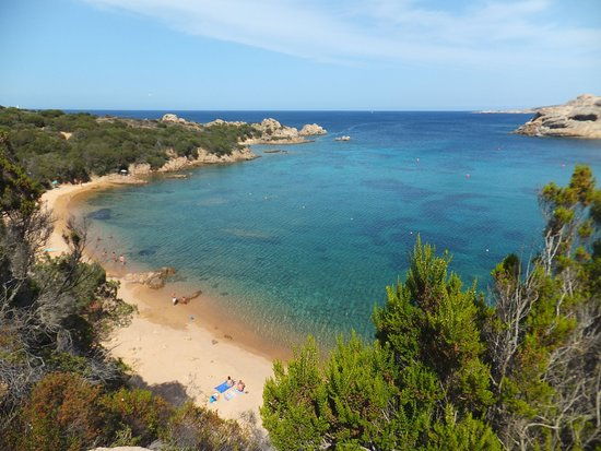 La Maddalena, Italia: spalmatore beach, the nlonely part of the bay
