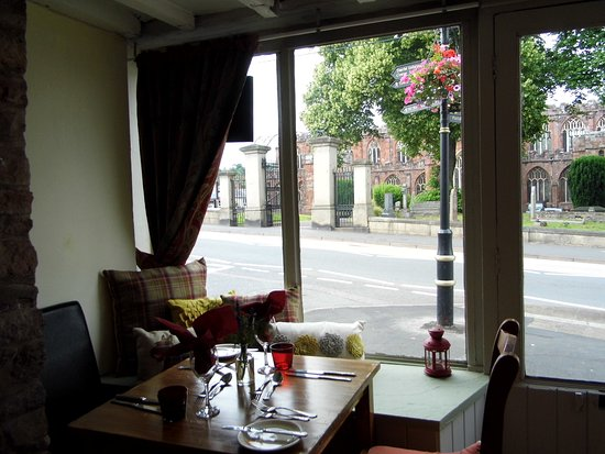 Crediton, UK: View from the Restaurant
