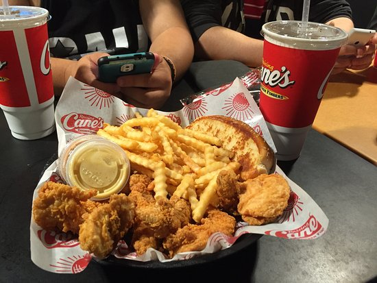 "Joe Bear's ""Canaics Chicken Combo"" from ""Raising Cane's"" Laguna Hills"
