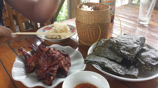 BBQ by the Bridge: Bbq duck sticky rice and river weed