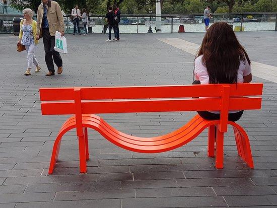 Royal Festival Hall: Social benches