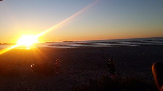 Paternoster, Sudafrica: Sunset view from the restaurant